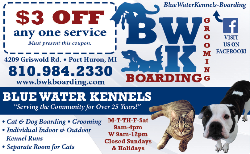 Blue Water Kennels Coupon Port Huron MI