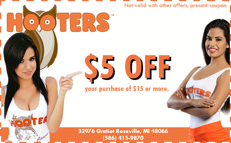 Hooters Coupon Roseville MI