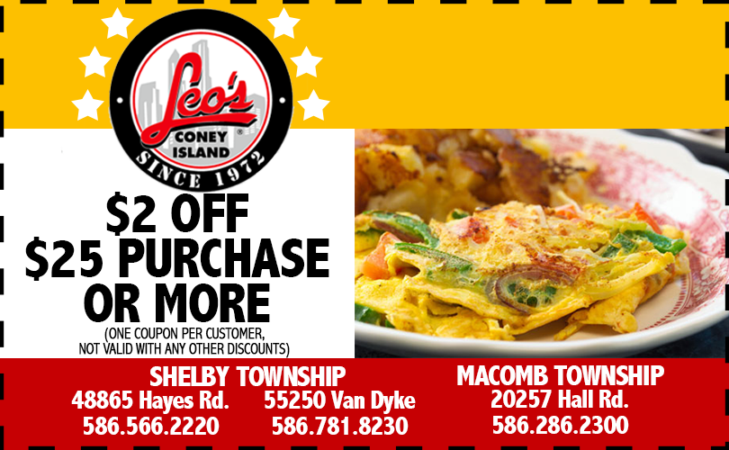 Leos Coney Island  Coupon Shelby Charter Township Michigan